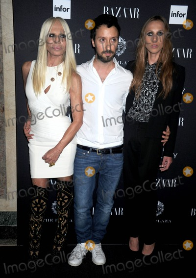 Allegra Beck, Beck, Donatella Versace Photo - Photo by: Dennis Van Tine/starmaxinc.comSTAR MAX2014ALL RIGHTS RESERVEDTelephone/Fax: (212) 995-11969/5/14Donatella Versace, Anthony Vaccariello and Allegra Beck at the Moet & Chandon and Belvedere Vodka Toast to Harper's Bazaar Icons.(NYC)