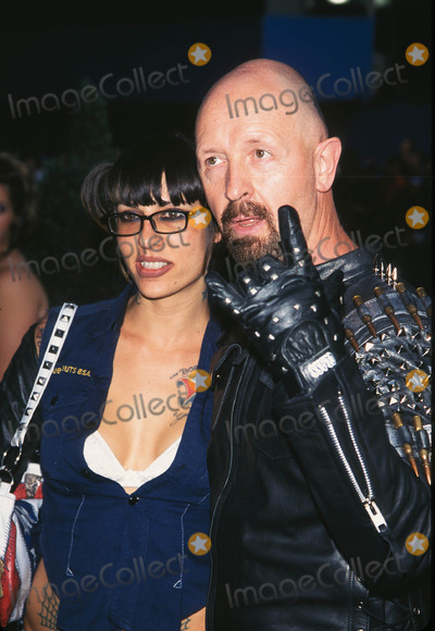 """Rob Halford Photo - Photo by: Peter KramerSTAR MAX, Inc. - copyright 2001. Rob Halford and date at """"MTV20: Live and Almost Legal"""".(Hamerstein Ballroom, NYC)"""