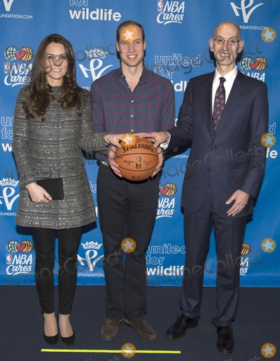 Kate Middleton, Prince, Prince William, The Duchess, Adam Silver Photo - Photo by: KGC/starmaxinc.comSTAR MAX2014ALL RIGHTS RESERVEDTelephone/Fax: (212) 995-119612/8/14Prince William The Duke of Cambridge and Kate Middleton Catherine The Duchess of Cambridge meet NBA Commissioner Adam Silver during their visit to the Barclay Center in Brooklyn to watch the basketball game between the Cleveland Cavaliers and the Brooklyn Nets.(NYC)