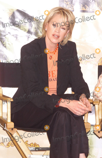 """Melanie Griffith, Melanie Griffiths Photo - Photo by:  Tom Lau/Loud & Clear Media/STAR MAX Inc.2002 ALL RIGHTS RESERVED  Phone/Fax (212) 995-119610/10/2002Melanie Griffith at the press conference announcing the launch of the U.S. Branch of the Sabera Foundation & the upcoming release of their fundraising CD, """"Voices of Hope"""".(CAA Offices - CA)"""