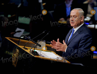 Benjamin Netanyahu, The Unit Photo - Photo by: Dennis Van Tine/starmaxinc.comSTAR MAX2017ALL RIGHTS RESERVEDTelephone/Fax: (212) 995-11969/19/17Benjamin Netanyahu speaks at the 72nd session of the United Nations General Assembly in New York City.