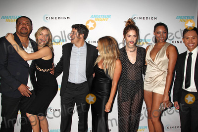 """Ashley Tisdale, Bria Murphy, Janet Montgomery, Jason Biggs, Jenny Mollen, Adrian Voo Photo - Photo by: RE/Westcom/starmaxinc.comSTAR MAX2016ALL RIGHTS RESERVEDTelephone/Fax: (212) 995-11967/25/16Jenny Mollen, Jason Biggs, Ashley Tisdale, Janet Montgomery, Bria Murphy and Adrian Voo at the premiere of """"Amateur Night"""".(Hollywood, CA)"""