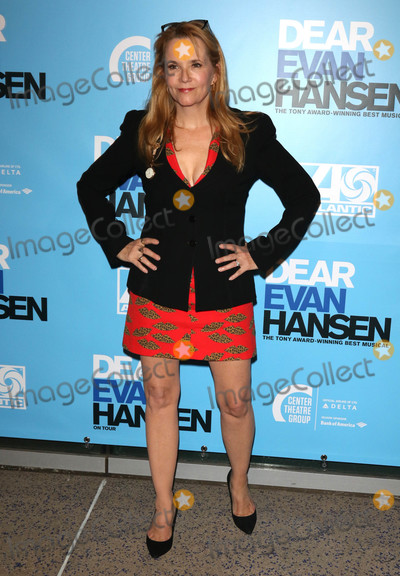 """Lea Thompson Photo - Photo by: gotpap/starmaxinc.comSTAR MAX2018ALL RIGHTS RESERVEDTelephone/Fax: (212) 995-119610/19/18Lea Thompson at the opening night performance of """"Dear Evan Hansen"""" in Los Angeles, CA."""