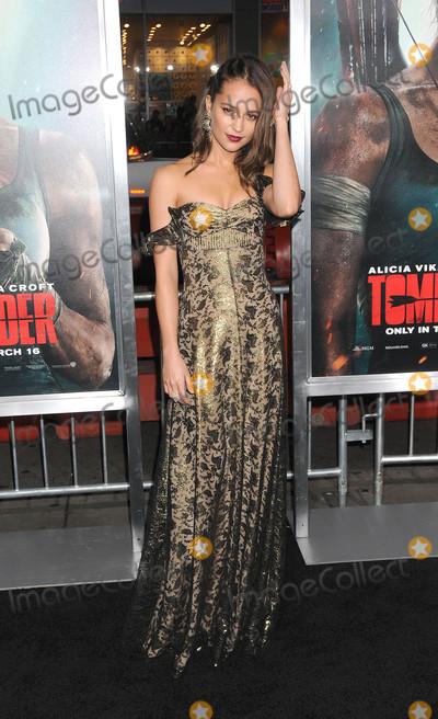 Alicia Vikander Photo - Photo by: Galaxy/starmaxinc.comSTAR MAX2017ALL RIGHTS RESERVEDTelephone/Fax: (212) 995-11963/12/18Alicia Vikander at the premiere of 'Tomb Raider' in Los Angeles, CA.