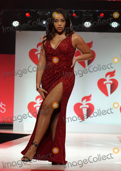 Jordyn Woods, Jordyn Wood Photo - Photo by: zz/John Nacion/starmaxinc.comSTAR MAXCopyright 2019ALL RIGHTS RESERVEDTelephone/Fax: (212) 995-11962/7/19Jordyn Woods on the runway at The American Heart Association's Go Red For Women Red Dress Collection Fashion Show during New York Fashion Week in New York City.(NYC)