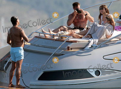 Arun Nayer, Elizabeth Hurley Photo - Elizabeth Hurley with Arun Nayer and her son, Damian, on vacation in Saint Tropez.