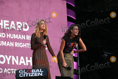 Amber Heard, Bridget Moynahan Photo - Photo by: John Nacion/starmaxinc.comSTAR MAX2018ALL RIGHTS RESERVEDTelephone/Fax: (212) 995-11969/29/18Amber Heard and Bridget Moynahan at the 2018 Global Citizen Festival: Be The Generation in Central Park in New York City.