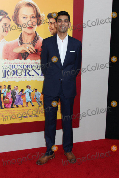 """Journey, Amit Shah Photo - Photo by: HQB/starmaxinc.comSTAR MAX2014ALL RIGHTS RESERVEDTelephone/Fax: (212) 995-11968/4/14Amit Shah at the premiere of """"The Hundred-Foot Journey"""".(NYC)"""