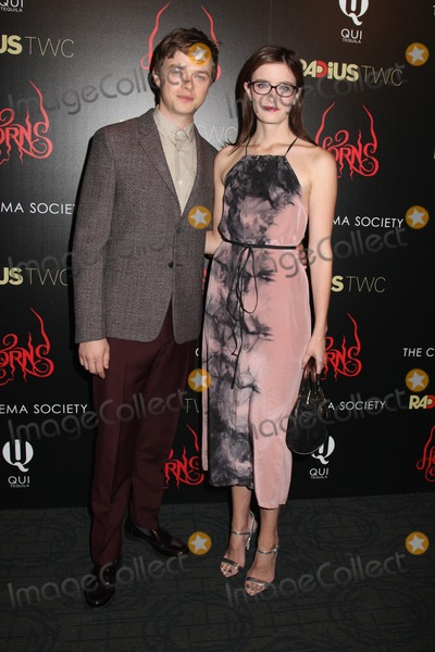 """Anna Wood Photo - Photo by: HQB/starmaxinc.comSTAR MAX2014ALL RIGHTS RESERVEDTelephone/Fax: (212) 995-119610/27/14Dane DeHaan and Anna Wood at The Cinema Society premiere of """"Horns"""".(NYC)"""