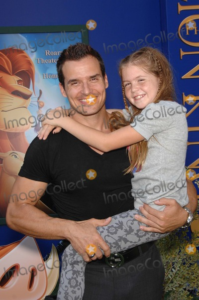 Antonio Sabato Jr., Antonio Sabato, Jr., Walt Disney Photo - Antonio Sabato Jr. and Mina Bree Sabato during the premiere Walt Disney Studios re-release of the THE LION KING 3D, held at the El Capitan Theatre, on August 27, 2011, in Los Angeles.
