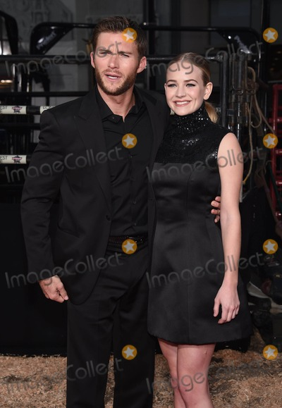 """Britt Robertson, Scott Eastwood Photo - Photo by: KGC-11/starmaxinc.comSTAR MAX2015ALL RIGHTS RESERVEDTelephone/Fax: (212) 995-11964/6/15Scott Eastwood and Britt Robertson at the premiere of """"The Longest Ride"""".(Los Angeles, CA)"""