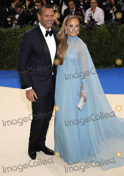 """Alex Rodriguez, Jennifer Lopez, JENNIFER LOPEZ, Photo - Photo by: XPX/starmaxinc.comSTAR MAXCopyright 2017ALL RIGHTS RESERVEDTelephone/Fax: (212) 995-11965/1/17Alex Rodriguez and Jennifer Lopez at the 2017 Costume Institute Gala - """"Rei Kawakubo/Comme des Garcons: Art Of The In-Between"""".(Metropolitan Museum of Art, NYC)"""