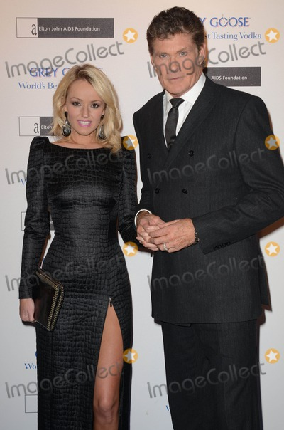 Elton John, Hayley Roberts, David Hasslehoff Photo - 10th November, 2012:  The Elton John AIDS Foundation Grey Goose Winter Ball held at Battersea Power Station, London, this evening.