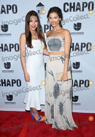"""Abril Schreiber, Juliette Pardau, El Chapo Photo - Photo by: gotpap/starmaxinc.comSTAR MAXCopyright 2017ALL RIGHTS RESERVEDTelephone/Fax: (212) 995-11964/19/17Juliette Pardau and Abril Schreiber at the premiere of """"El Chapo"""".(Los Angeles, CA)"""