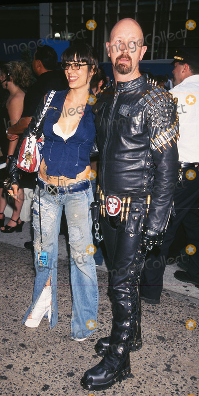 """Rob Halford Photo - Photo by: Walter WeissmanSTAR MAX, Inc. - copyright 2001. 8/1/01Rob Halford with date at """"MTV20: Live and Almost Legal"""".(Hamerstein Ballroom, NYC)"""