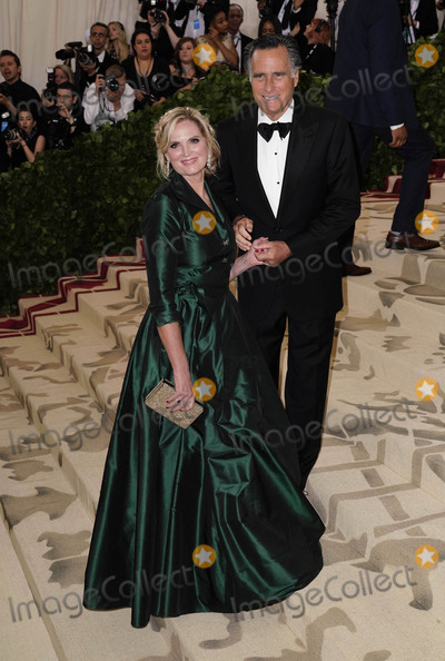 """Mitt Romney, ANN ROMNEY Photo - Photo by: zz/XPX/starmaxinc.comSTAR MAXCopyright 2018ALL RIGHTS RESERVEDTelephone/Fax: (212) 995-11965/7/18Ann Romney and Mitt Romney at the 2018 Costume Institute Benefit Gala celebrating the opening of """"Heavenly Bodies: Fashion and the Catholic Imagination"""".(The Metropolitan Museum of Art, NYC)"""