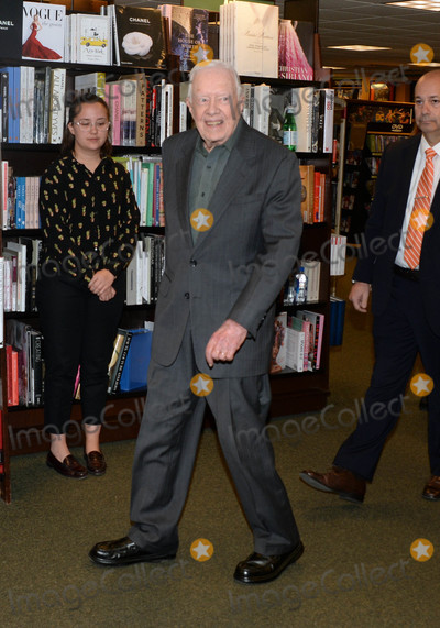 """Jimmy Carter Photo - Photo by: Dennis Van Tine/starmaxinc.comSTAR MAX2018ALL RIGHTS RESERVEDTelephone/Fax: (212) 995-11963/26/18Jimmy Carter signs copies of his new book, 'Faith"""" at Barnes & Noble in New York City."""