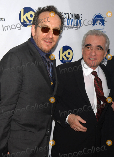 """Elvis Costello, Martin Scorsese Photo - Photo by: Walter Weissman/starmaxinc.com2005. 9/19/05Elvis Costello and Martin Scorsese at the premiere of """"No Direction Home"""".(NYC)"""