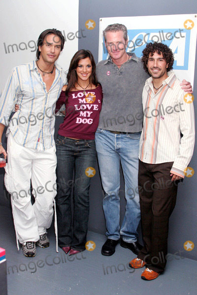 Photos and pictures photo by mitch gerberstarmaxinc 2004 9 92204 dan matthews with ethan zohn and jenna morasca of survivor and marcus schenkenberg at a people for the ethical treatmant of animals thecheapjerseys Image collections