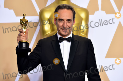 """Alexandre Desplat Photo - Photo by: Matt Crossick/starmaxinc.comSTAR MAXCopyright 2018ALL RIGHTS RESERVEDTelephone/Fax: (212) 995-11963/4/18Alexandre Desplat winner of the award for Best Original Score for """"The Shape of Water"""" at the 90th Annual Academy Awards (Oscars) presented by the Academy of Motion Picture Arts and Sciences.(Hollywood, CA, USA)"""