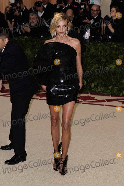 """Anja Rubik Photo - Photo by: zz/XPX/starmaxinc.comSTAR MAXCopyright 2018ALL RIGHTS RESERVEDTelephone/Fax: (212) 995-11965/7/18Anja Rubik at the 2018 Costume Institute Benefit Gala celebrating the opening of """"Heavenly Bodies: Fashion and the Catholic Imagination"""".(The Metropolitan Museum of Art, NYC)"""