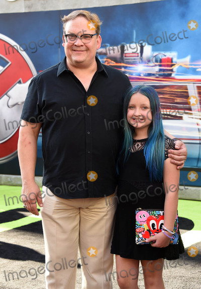 """Andy Richter Photo - Photo by: KGC-11/starmaxinc.comSTAR MAX2016ALL RIGHTS RESERVEDTelephone/Fax: (212) 995-11967/10/16Andy Richter and Mercy Richter at the premiere of """"Ghostbusters"""".(Los Angeles, CA)"""