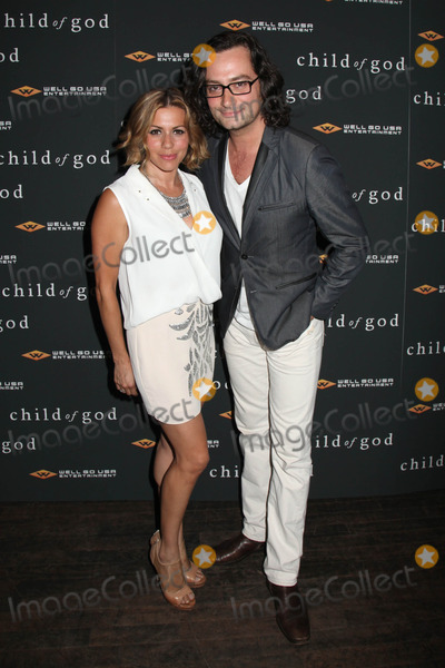 """Constantine Maroulis, ANGEL REED Photo - Photo by: HQB/starmaxinc.com2014ALL RIGHTS RESERVEDTelephone/Fax: (212) 995-11967/30/13Constantine Maroulis (R) and Angel Reed at the premiere of """"Child of God"""".(NYC)"""