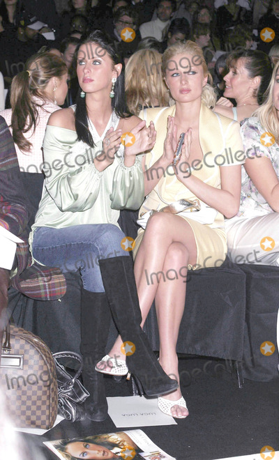 """Nicky Hilton, Paris Hilton Photo - Photo by: Mitch Gerber/starmaxinc.com2005. 2/6/05Nicky Hilton and Paris Hilton at the """"Luca Luca"""" Fall 2005 Collection during Fashion Week.(NYC)"""