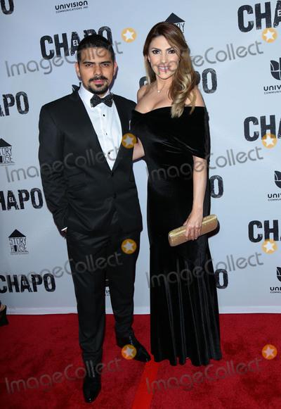 "Alejandro Aguilar, El Chapo Photo - Photo by: gotpap/starmaxinc.comSTAR MAXCopyright 2017ALL RIGHTS RESERVEDTelephone/Fax: (212) 995-11964/19/17Alejandro Aguilar and Ana Karina Soto at the premiere of ""El Chapo"".(Los Angeles, CA)"