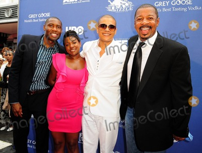 "Hives, Lil 'J, Lil J, Lil' J, Robert Townsend, The Hives Photo - Messiah J. Jacobs, Amber Bickham, Jonathan ""Lil J"" McDaniel and Robert Townsend attends world premiere of In The Hive"" during the 15th Annual American Black Film Festival at the Colony Theater. Miami Beach, FL. 7/6/11."