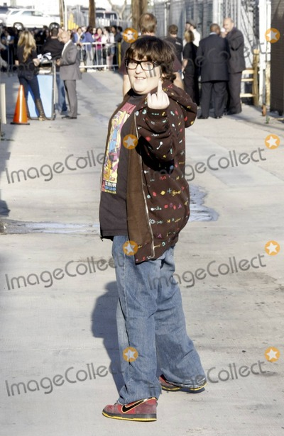 """Andy Milonakis, Jimmy Kimmel Photo - Actor and comedian Andy Milonakis gives the middle finger outside the """"Jimmy Kimmel Live"""" studios. Los Angeles, CA. 4/20/11."""