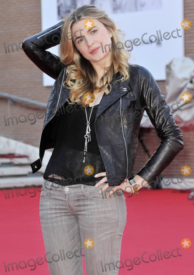 """Cecile Cassel, The Calling Photo - Actress Cecile Cassel, in a cool Chanel leather biker jacket, attends the photo call for """"Leila"""" directed by Audrey Estrougo held at Auditorium Parco Della Musica during the 5th International Rome Film Festival. Rome, ITA. 10/28/10."""