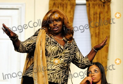 """Angie Stone Photo - Angie Stone, Tamika Tanner and Calandra Glenn perform in Theo London's Inspirational Staged play """"Loving Him Is Killing Me"""" at James L. Knight Center. Miami, FL. 5/15/11."""