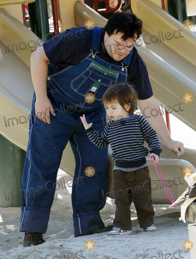 Photos And Pictures Actor Jack Black Dons A Pair Of Quirky Denim Overalls For Playtime In The Park With His Wife Tanya Haden And Their Two Sons Samuel Jason 4 And They have two sons, samuel jason black and thomas david black. imagecollect