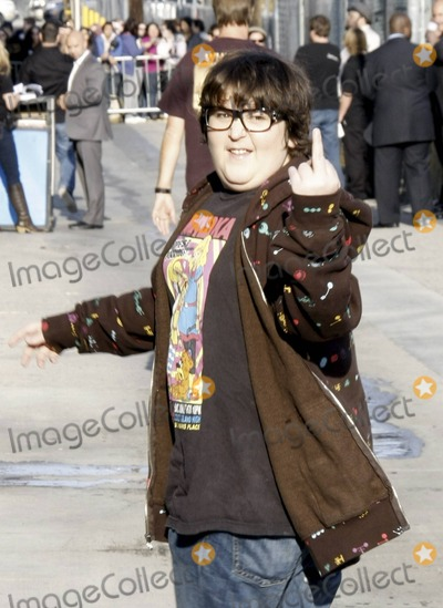 "Andy Milonakis, Jimmy Kimmel Photo - Actor and comedian Andy Milonakis gives the middle finger outside the ""Jimmy Kimmel Live"" studios. Los Angeles, CA. 4/20/11."