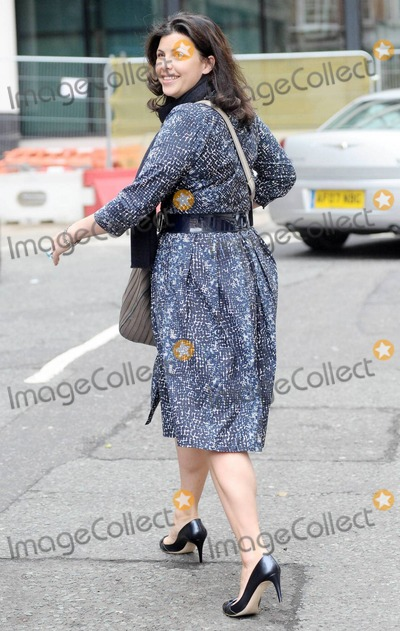 """Alan Sugar, Kirstie Allsopp, The Calling Photo - British TV presenter Kirstie Allsopp appears happy as she leaves BBC Radio studios a week after Lord Alan Sugar, British entrepreneur and star of the reality TV program """"The Apprentice"""", called her a 'lying cow' on Twitter. London, UK. 10/28/10."""