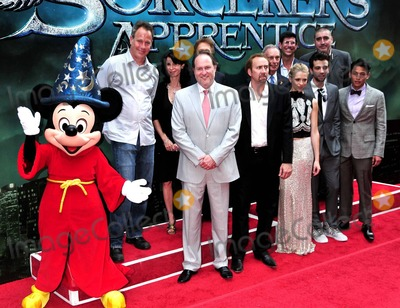 """Alfred Molina, Gregory Woo, Jay Baruchel, Jerry Bruckheimer, Jon Turteltaub, Mayor Michael Bloomberg, Michael Bloomberg, Mickey Mouse, Nicolas Cage, Teresa Palmer, Katherine Oliver, Mayor Bloomberg Photo - Jon Turteltaub, Katherine Oliver, Nicolas Cage, Jerry Bruckheimer, Teresa Palmer, New York City Mayor Michael Bloomberg, Jay Baruchel, Gregory Woo and Alfred Molina are joined on the red carpet by Mickey Mouse for the premiere of Disney's """"The Sorcerer's Apprentice"""" held at the New Amsterdam Theatre in Times Square.  Bloomberg reportedly named the day 'Sorcerer's Apprentice Day' to welcome and promote the film.  New York, NY. 07/06/10."""