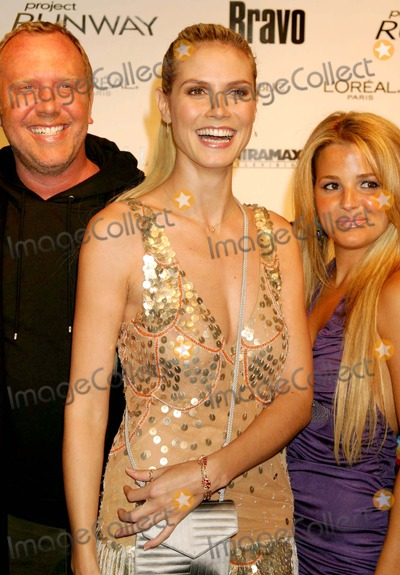 Heidi Klum, Michael Kors, Alexandra Vidal, Michael Bublé, Michael Paré Photo - Michael Kors, Heidi Klum and Alexandra Vidal (Project Runway Contestant) Arriving at a Launch Party For Bravo's Project Runway at Pm Lounge in New York City on 11-30-2004. Photo by Henry Mcgee/Globe Photos, Inc. 2004.