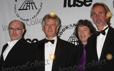Genesis, Mike Rutherford, Phil Collins, Steve Hackett, Tony Banks, THE ROCK Photo - Genesis (Phil Collins, Tony Banks, Steve Hackett and Mike Rutherford) at the 25th Annual Induction Ceremony of the Rock and Roll Hall of Fame Foundation at the Waldorf-astoria in New York City on 03-15-2010. Photo by Henry Mcgee-Globe Photos, Inc. 2010.