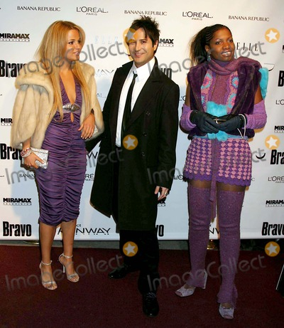 Alexandra Vidal, Daniel Franco, Danielle Franco, Group Shot Photo - Alexandra Vidal, Daniel Franco and Kara: Aka the Professional (Project Runway Contestants) Arriving at a Launch Party For Bravo's Project Runway at Pm Lounge in New York City on 11-30-2004. Photo by Henry Mcgee/Globe Photos, Inc. 2004.