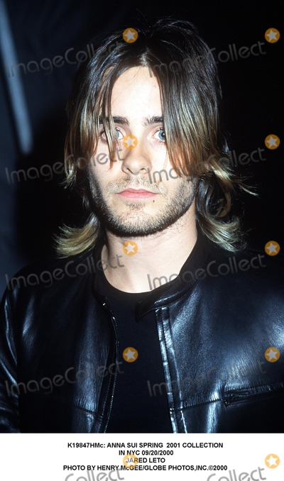 Jared Leto, Anna Sui Photo - : Anna Sui Spring 2001 Collection in NYC 09/20/2000 Jared Leto Photo by Henry Mcgee/Globe Photos,inc.