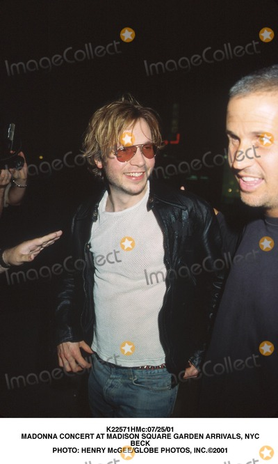 Beck, Madonna Photo - :07/25/01 Madonna Concert at Madison Square Garden Arrivals, NYC Beck Photo: Henry Mcgee/Globe Photos, Inc.