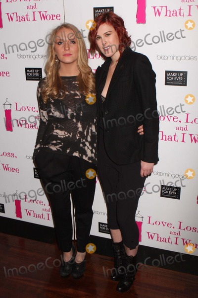 """Rumer, Rumer Willis, B. Smith, Bruce Willis, Demi Moore, Glenn Close, Annie Starke, CAST MEMBER, CAST MEMBERS, Annie Stark Photo - ANNIE STARKE (daughter of Glenn Close) and RUMER WILLIS (daughter of Bruce Willis and Demi Moore) arriving at a party to celebrate the new cast members of the Off Broadway play, """"Love, Loss, and What I Wore"""" at B Smith's Restaurant in New York City on 03-24-2011.  Photo by Henry McGee-Globe Photos, Inc. 2011."""
