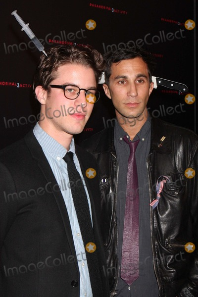 """Henry Joost, Ariel Schulman Photo - Directors Henry Joost and Ariel Schulman Arriving at a Super Fan Screening of """"Paranormal Activity 3"""" at Regal Union Square Stadium 14 in New York City on 10-18-2011. Photo by Henry Mcgee-Globe Photos, Inc. 2011."""