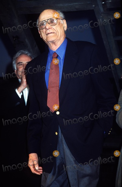 """Arthur Miller Photo - : """"the Crucible"""" Opening Night at the Virginia Theatre in New York City 03/07/02 Photo by Henry Mcgee/Globe Photos, Inc. 2002 Arthur Miller"""