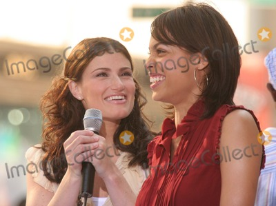 Idina Menzel, Rosario Dawson, The Cast Photo - New York, NY 8-4-2005Idina Menzel and Rosario Dawson performing with the cast of the movie RENT on The Today Show Toyota Concert Series in Rockefeller Center.Digital Photo by Lane Ericcson-PHOTOlink.org