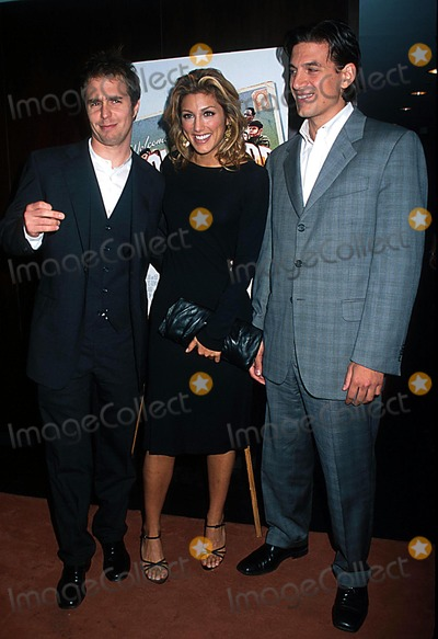 "Andrew Davoli, Jennifer Esposito, Sam Rockwell Photo - Sd0926 ""Welcome to Collinwood"" Screening at the Bryant Park Hotel, New York City Photo: Henry Mcgee/ Globe Photos Inc. 2002 Sam Rockwell, Jennifer Esposito & Andrew Davoli"