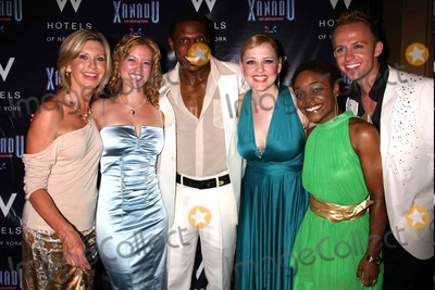 Olivia Newton-John, Patti Murin, Andre Ward, Anika Larsen Photo - Olivia Newton-john with Patti Murin, Andre Ward, Anika Larsen, Kenita R. Miller and Marty Thomas at the Opening Night Party For Xanadu at Providence in New York City on July 10, 2007. Photo by Henry Mcgee/Globe Photos, Inc. 2007.