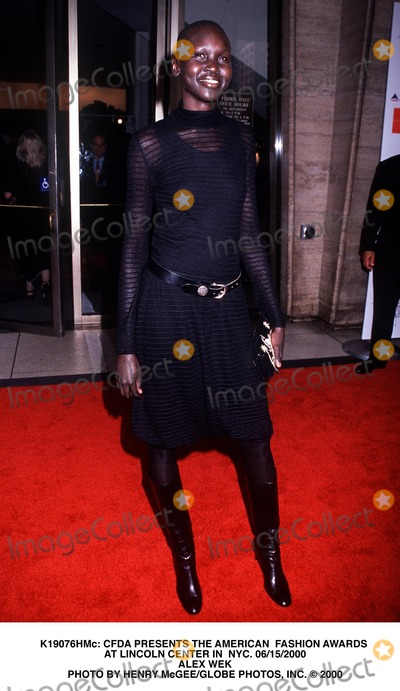 Alex Wek Photo - : Cfda Presents the American Fashion Awards at Lincoln Center in NYC. 06/15/2000 Alex Wek Photo by Henry Mcgee/Globe Photos, Inc.