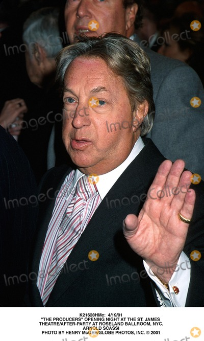 """Arnold Scassi, The Producers Photo - : 4/19/01 """"the Producers"""" Opening Night at the St. James Theatre/after-party at Roseland Ballroom, NYC. Arnold Scassi Photo by Henry Mcgee/Globe Photos, Inc."""